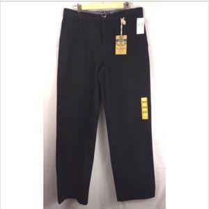 Dockers black flat front Marina dress pants 33/32